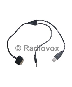 CABLE USB+JACK 3.5mm A IPOD