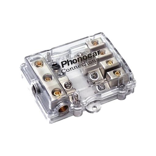 Portafusible 4 vias para fusible AFC cables Entrada 3x25 mm - Salida 4x10 mm
